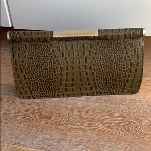 BCBGMAXAXRIA leather clutch